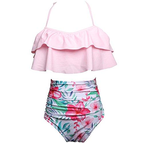DELEY Mujeres Retro Cintura Alta Lindo Bikini Volantes