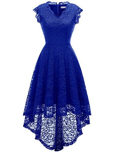 MODECRUSH Abito da sera da donna, per feste, balli di fine anno, blu royal, XXXL