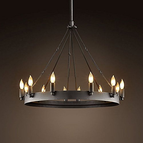 BAYCHEER Retrolampe Wohnzimmer Lampe Esszimmer lampe Hängelampe Kronleuchter Pendelleuchte Metall lampe mit 12 Fassung