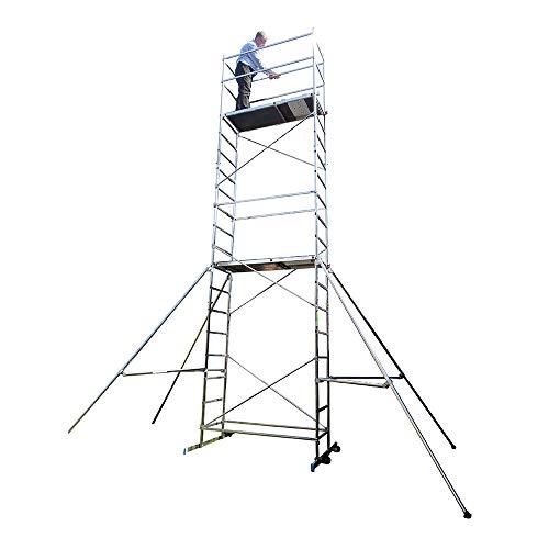 Superb 7m DIY Scaffold Tower - Aluminium (Tubesca First 7)