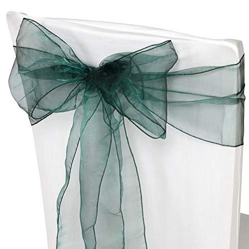 Trimming Shop 100 Organza sjerp voor stoelhoezen - decoratief hele lint voor bruiloft, verjaardag feestjes - bont lint voor stoelen