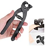 Potente herramienta de punzonado de cuero de mano de mano Alicates de abrazadera de punzón para correa de cuero Sillín de cinturón(4 Prong)
