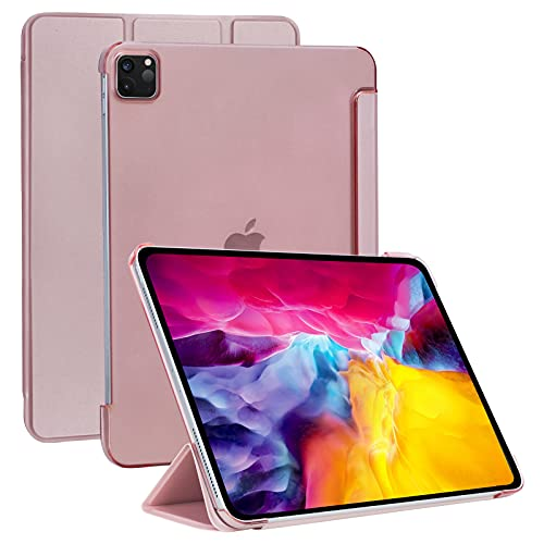 Skycase iPad Air 4 10.9 Case (2020),[Sleep/Wake Cover], Flip Folio Protective Multiple Stand Angles for Watching and Typing for iPad Pro 11 2021/2020/2018,Rose Gold