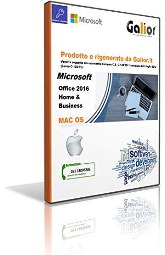 MlCROSOFT Office 2016 Home & Business per MAC os Versione Perpetua MICROSOFT