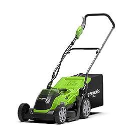 Greenworks Tools 2501907 35cm Tondeuse à gazon sans fil 40V Lithium-ion (sans batterie ni chargeur)