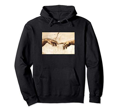 Creation of Adam Michelangelo Die Erschaffung Adams Kunst Pullover Hoodie