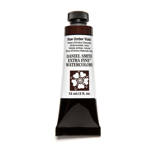 DANIEL SMITH Extra Fine Watercolor Paint, 15ml Tube, Raw Umber Violet, 284600098