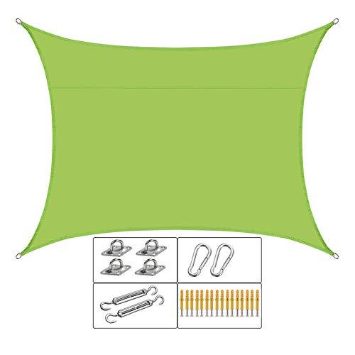 Toldo Vela Sombra UV Impermeable Rectángulo De Vela para El Sol Toldo para Patio Al Aire Libre Jardín Pérgola Toldo Sombrillas,B