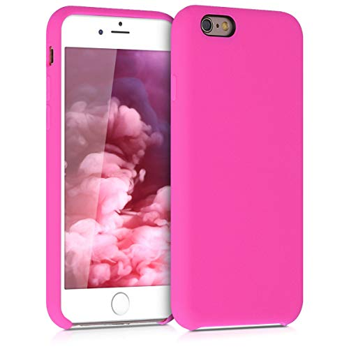 kwmobile Custodia Compatibile con Apple iPhone 6 / 6S - Cover in Silicone TPU - Back Case per Smartphone - Protezione Gommata Magenta