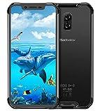 (2019) Blackview BV9600 Pro Smartphone Résistant, Helio P70 4Go + 64Go, Android 9.0 IP68 Télephone Portable Incassable débloqué 4G, 6,21'' écran FHD+ AMOLED, NFC, 16MP + 8MP, Charge sans Fil Noir