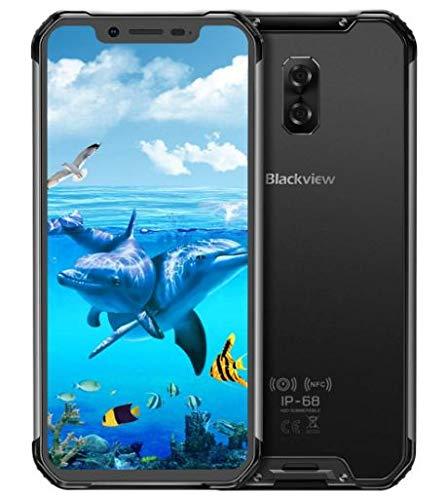 (2019) Blackview BV9600 Pro 4G Smartphone Resistente, Helio P70 6GB + 128GB, Android 9.0 Móvil Todoterreno IP68 Antigolpes, 6.21'' FHD + AMOLED, Dual SIM, NFC, 16MP + 8MP, Carga Inalámbrica Negro