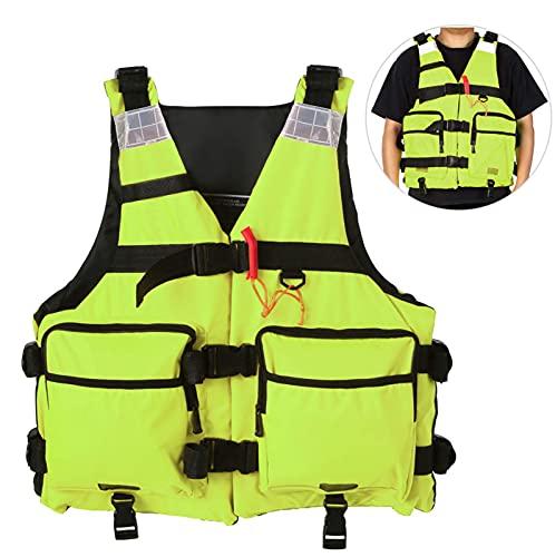 Olaffi Chalecos Salvavidas Adultos,Chaleco Seguridad piragüismo natación Canoa Snorkel Ayuda flotabilidad Tabla Remo múltiples Bolsillos para Buceo Deportes acuáticos Navegación