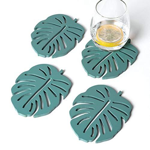 Sottobicchieri per Bevande Set di 4 pezzi for tappetino isolante for sottobicchieri in legno nordico in legno Set di tappetini for la casa con pad anti-caldo Protezione dei Mobili