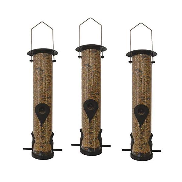 3 x 50160 Deluxe Heritage Wild Bird Hanging Large Seed Feeder Garden Feeders 13cm x 39cm
