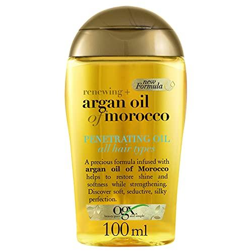 OGX Aceite Penetrante de Argán de Marruecos, Pelo Brillante y Sedoso, 100...