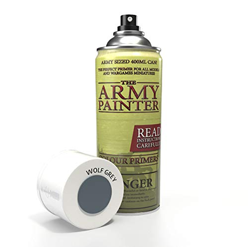 The Army Painter | Colour Primer |Wolf Grey| 400 mL, 13.5 oz...