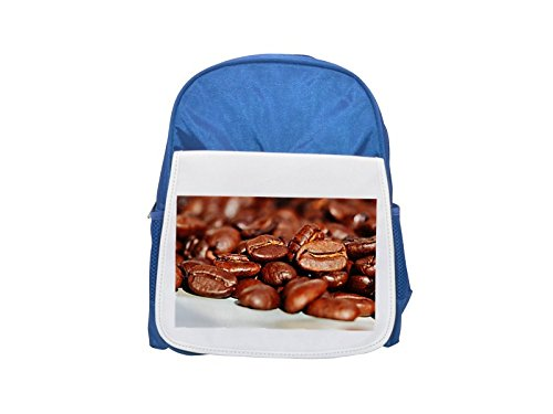 Coffee, Coffee Beans, Cafe, Roasted printed kid's blue backpack, Cute backpacks, cute small backpacks, cute black backpack, cool black backpack,...