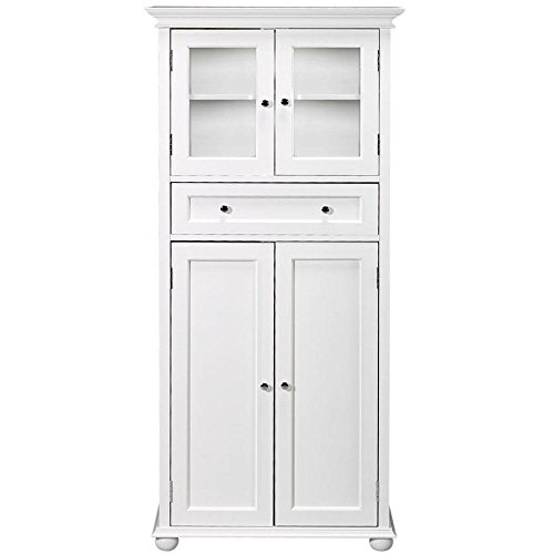 Home Decorators Collection Hampton Bay 1 Drawer Tall Bath Cabinet, 4-Door, White