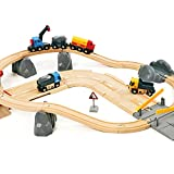 BRIO 33210 Set Cava Ferrovia e Strada, BRIO World Ferrovie, Età Raccomandata 3+