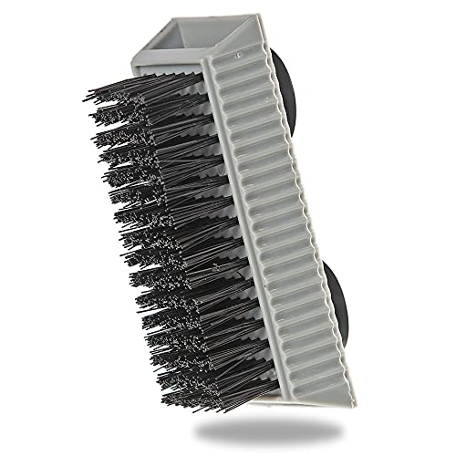 Grip Clean | Heavy Duty Fingernail Scrub Brush - Hand & Nail Cleaning Brush For Men & Mechanics - Stiff Bristles, Ultra-Durable - Suction Cups Stick To Mirrors, Sinks, Flat Surfaces