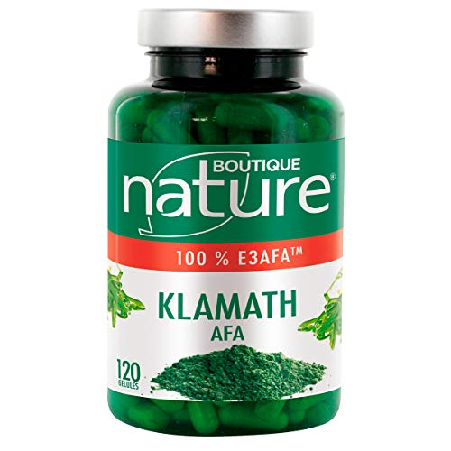 Boutique Nature - Complément Alimentaire - Klamath Afa - 120 Gélules Végétales - Aide à retrouver bien-être, maintenir ou renforcer votre organisme - Format Eco