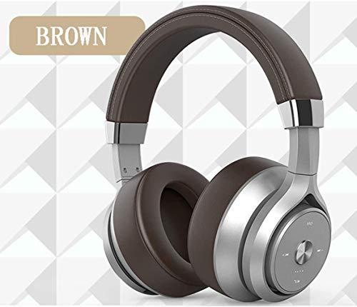 Ruisonderdrukkende koptelefoon, hoofdgemonteerd, Bluetooth, dubbelbewegende spoel, met microfoon, subwoofer, sport, games, lange batterijlevensduur, stroomweergave, allround oor