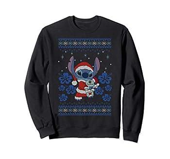 Disney Lilo & Stitch Christmas Stitch Ugly Sweater Style Sweatshirt