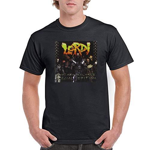 DAXIANIU Herren T-Shirts Lordi The Arockalypse Special Edition Cotton T-Shirts Black