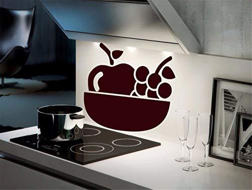 wandaufkleber spruch schlafzimmer Hauptdekor-Trauben-Frucht-Küchen-Weinglas-Stillleben stilvoll