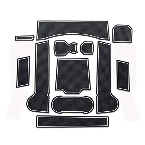 in Gomma Antiscivolo 8 Pezzi Rosso Tappetini per Porte Gate Slot Pad LFOTPP Jimny Sierra JB64 JB74