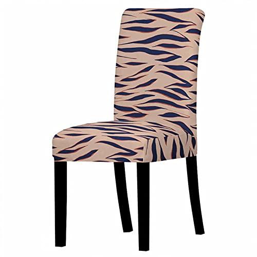 GJHGJ Fundas elásticas para sillas con Estampado de Leopardo, Fundas para Brazos, Lavables y extraíbles para Comedor, Fundas para Comedor, banquete-10, ESPAÑA