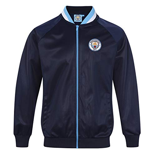 Manchester City FC - Herren Trainingsjacke im Retro-Design - Offizielles Merchandise - Geschenk für Fußballfans - M