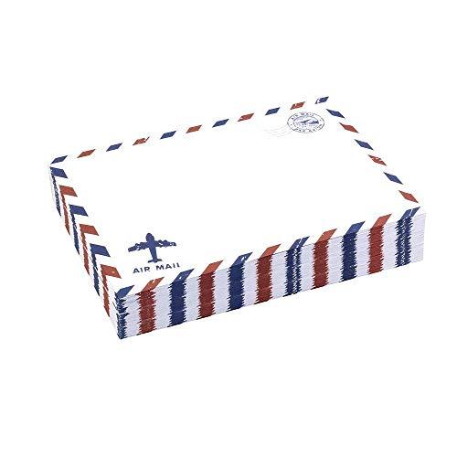 Kaptin 50 sobres de estilo vintage de correo aéreo, sobres de papel kraft para tarjetas de invitación, color blanco