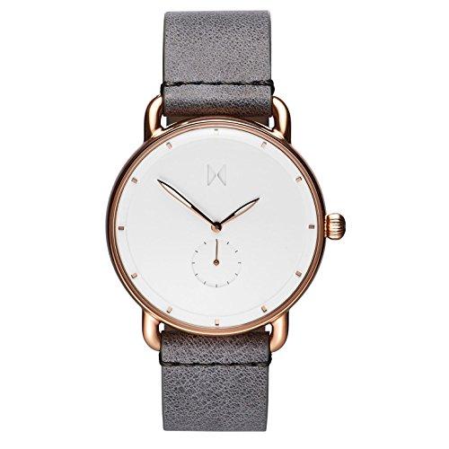 MVMT Herren Analog Quarz Uhr mit Leder Armband D-MR01-RGGR