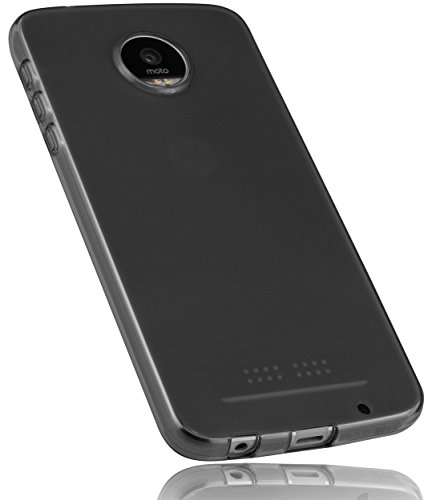 mumbi Hülle kompatibel mit Lenovo Moto Z Play Handy Hülle Handyhülle, transparent schwarz