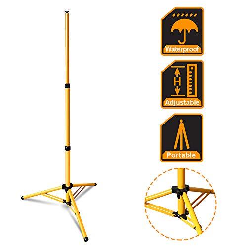 wolketon Stativ für LED Baustrahler Akku Strahler, Höhenverstellbar Flutlicht Ständer Stahlstativ Farbe: Gelb