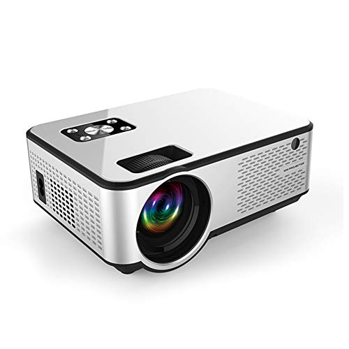 ZXCVASDF Portable High-Definition Projector, Support 1080P USB VGA AV HDMI AUD, Use More Than 50,000 Hours, Suitable for Home Theater, Outdoor Entertainment