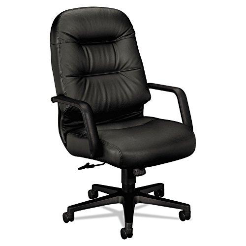 HON 2091SR11T 2090 Pillow-Soft Series Executive Leather High-Back Swivel/Tilt Chair, Black