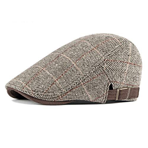 Hoed Vrouwen Mannen Hoeden Caps Newsboy Baker Jongen Hoeden Tweed Platte Cap Heren Hoed Winter Herfst Hoeden (Kleur: Koffie, Hoed Maat: 55 60 cm)