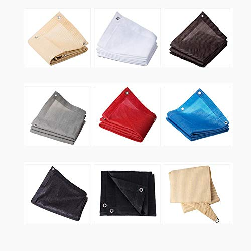 YQ QY Triángulo Sun Shade Sail Toldo Toldo 185gsm HDPE 95% UV Bloque para Patio Exterior Jardín Antracita Sunblock Shade Cloth Greenhouse Shade Net (Color : Beige, Size : 2X4m)