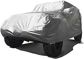 CarsCover Custom Fit 2004-2019 Jeep Wrangler Unlimited JK JL 4 Door SUV Car Cover Heavy Duty All Weather Ultrashield Gray
