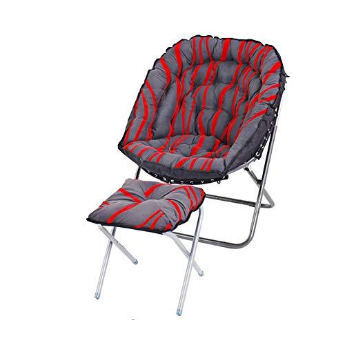 QIDI Chaise Plate-Forme Repose Pieds des Coussins Chaises Longues Pliable Inclinable Fainéant Canapé Camping Salon Arrière Soutien (Couleur : T8)