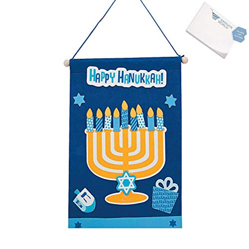 Hanukkah Banner Craft Kit - Make Your Own Hannukah Banner (2-Pack)