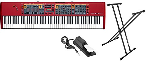 Nord Stage 2 EX 88 88-Key Hammer Action Stage Piano with 9 Digital Drawbars w/ Stand and Sustain Pedal