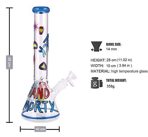 11 Inch Tall Glass Handmade