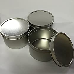 Candlewic Large Candle Tin (8 Oz.), 12 Pieces with Lids