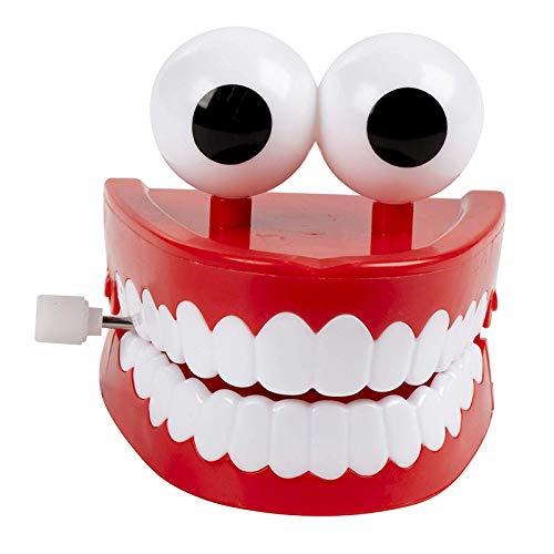 Noseeyou Wind-Up Toy, Chattering Chomping Zähne Mit Augen Lustige Aufziehspielzeug Neuheit Props Für Partei Desktop-Dekoration Kinderspielzeug