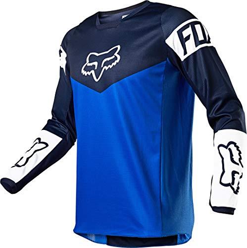 Fox Racing YTH 180 REVN Jersey, Blue, Small