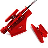 MS JUMPPER Adjustable Fletching Jig Straight and Helix Tool with Clamp for DIY Archery Arrows (Red)