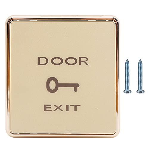 Botón de salida de puerta DC12V - Panel de interruptor de botón de apertura de puerta de material de alta calidad, interruptor de apertura de puerta para sistema de control de acceso de puerta